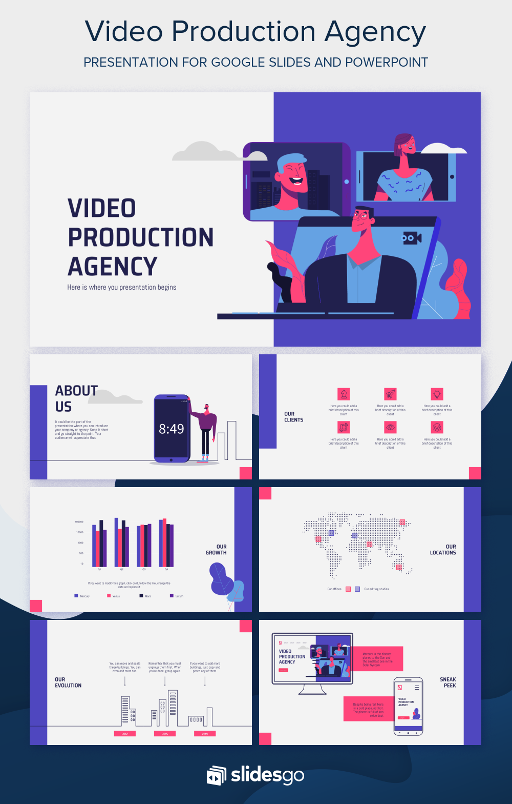 Use This New Free Marketing Strategy Template To Promote Your Video Production Agency In 2020 Marketing Strategy Template Marketing Strategy Marketing Presentation