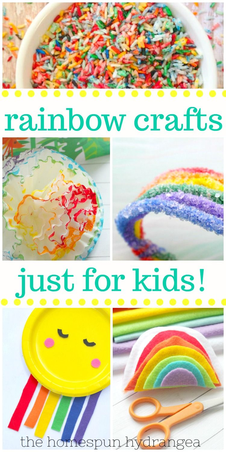 The Easiest Rainbow Craft Ideas For Kids Rainbow Crafts Quick