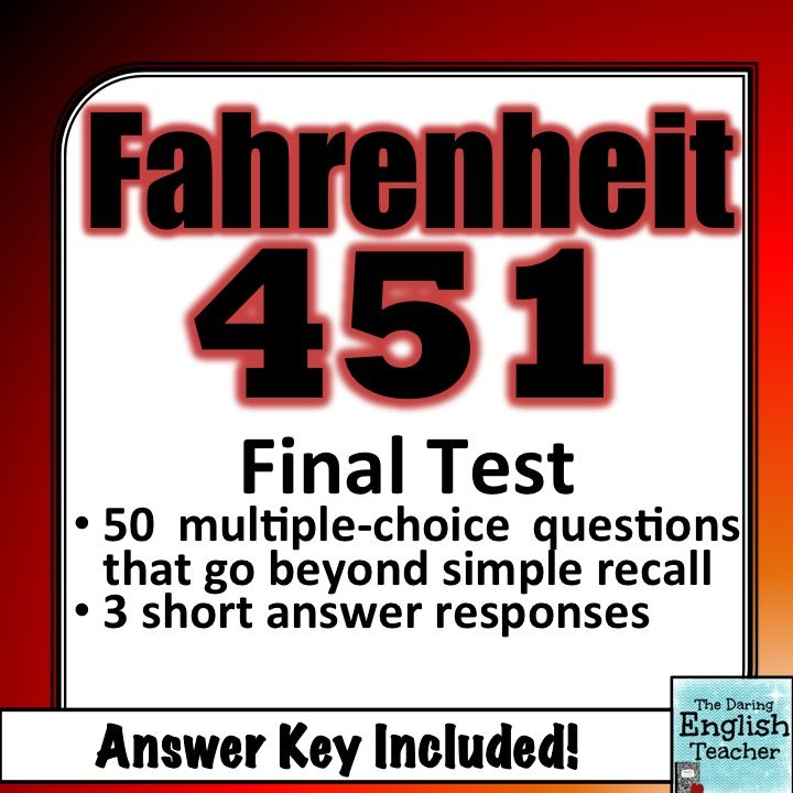 fahrenheit 451 + essay test questions Fahrenheit 451 essay questions we tend to have an obsession of media and entertainment information is being censored toward us  fahrenheit 451 test notes.