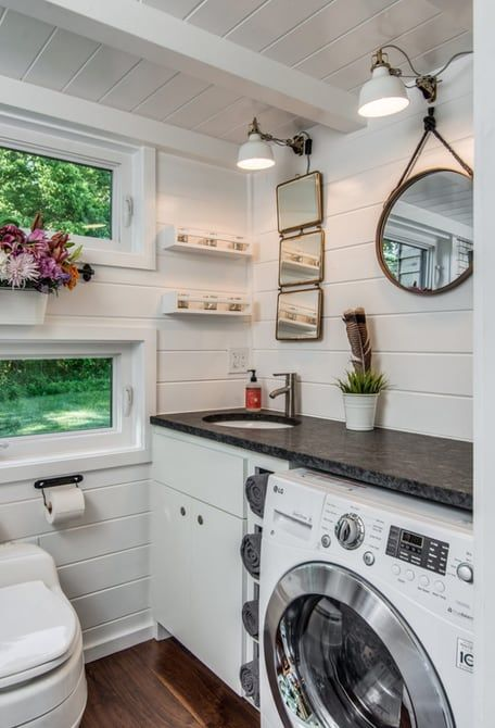 Nice The Bathroom Also Includes The Washer/dryer · Tiny House ...