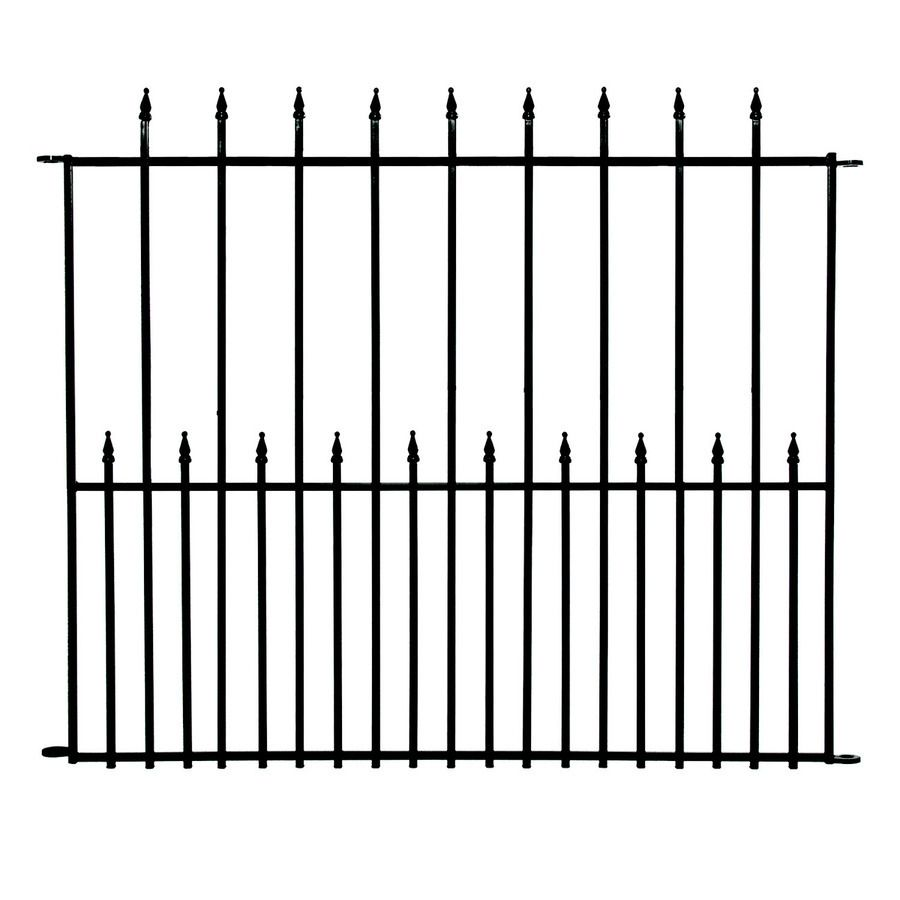 No Dig Grand Empire Powder-Coated Steel Decorative Fence Panel ...
