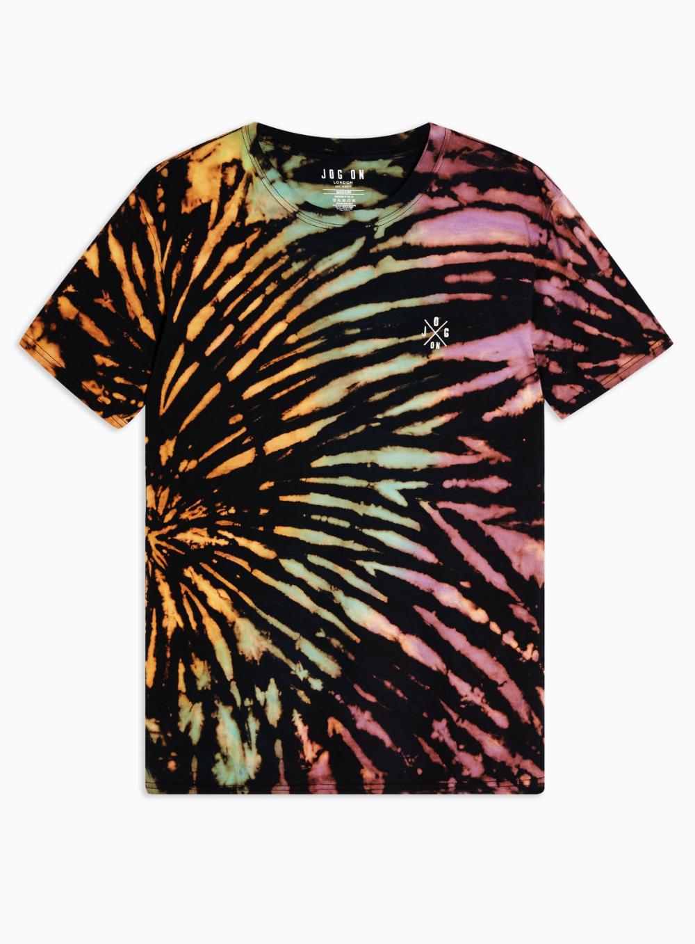 Jog On Black Hand Bleached T Shirt Topman Bleach T Shirts Black Tie Dye Shirt Create T Shirt Design [ 1357 x 1000 Pixel ]