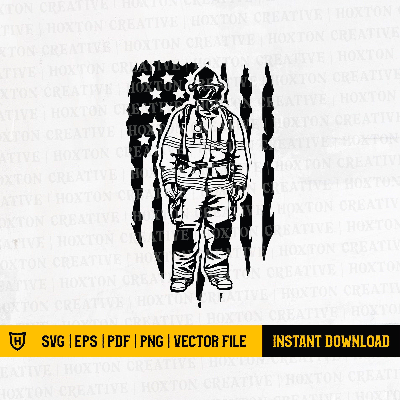 Us Patriotic Firefighter Svg File Us Fireman Svg Us Etsy In 2020 How To Make Tshirts Firefighter Shirts Svg