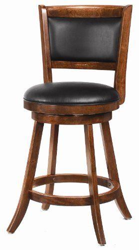24 Swivel Bar Upholstered Seat Stool In Dark Espresso Set Of 2