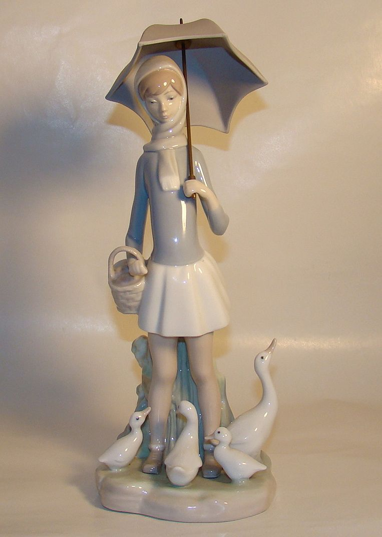 Lladro Figurine Girl With Umbrella I Want This I Broke My Moms