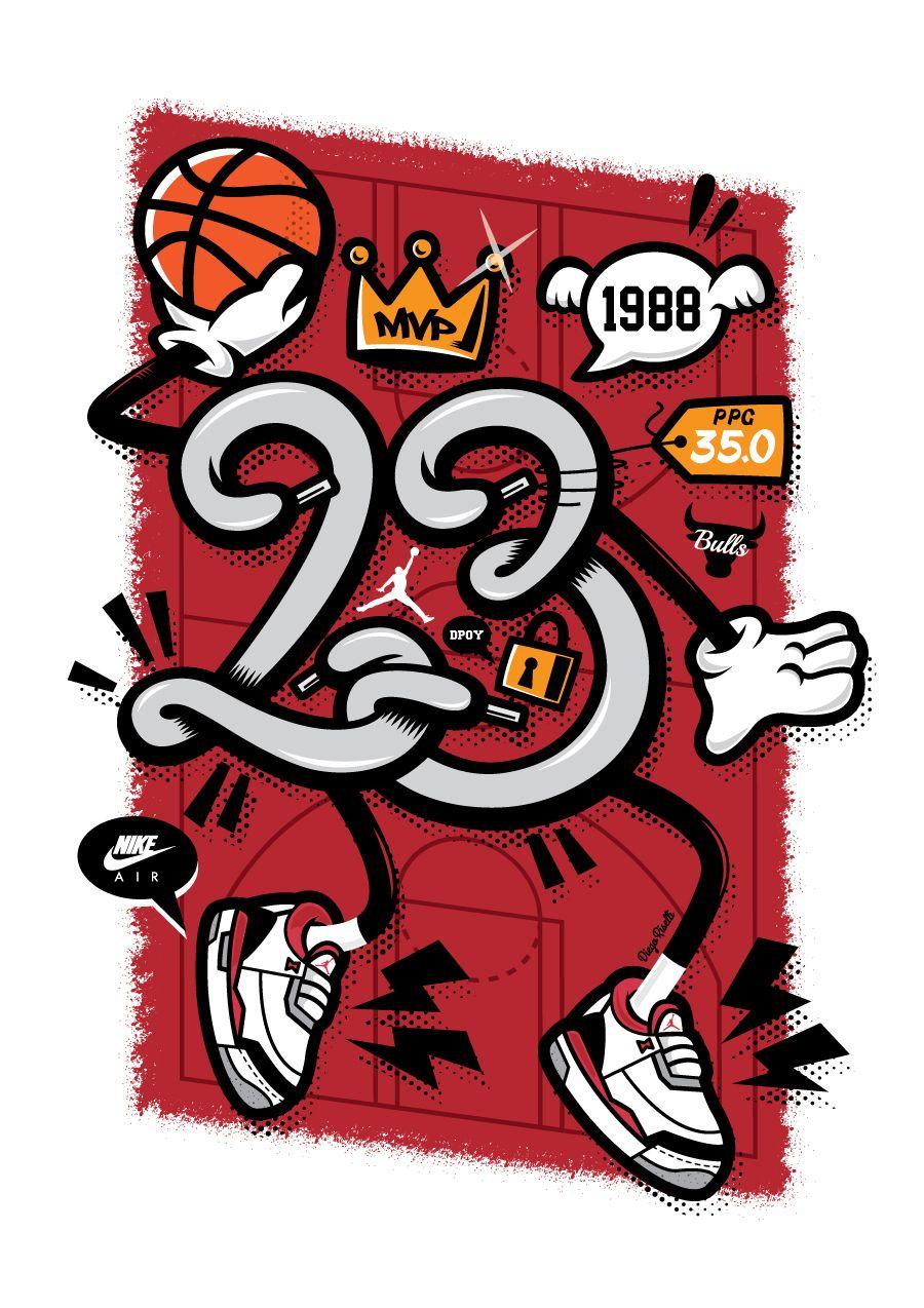 Cartoon Michael Jordan Wallpaper