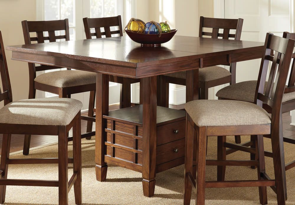 Good Buy Steve Silver Bolton 7 Piece 48 Inch Square Counter Height Set On Sale  Online