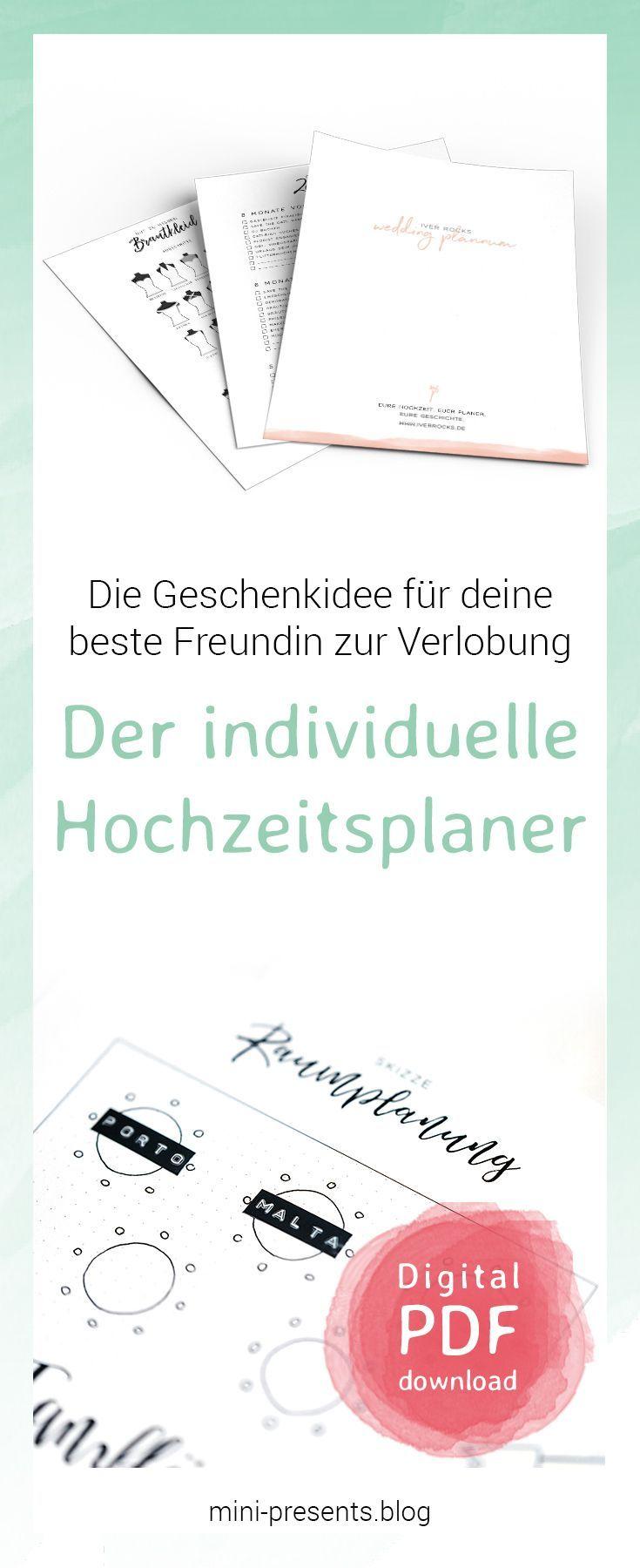 Das Geschenk Fur Die Beste Freundin Hochzeitsplaner Zum Ausdrucken Mini Presents Blog Hochzeitsplanung Geschenke Diy Hochzeit Planen