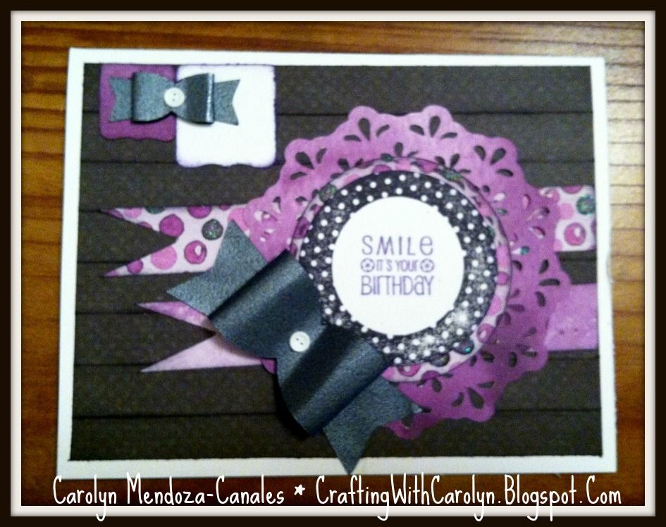 Crafting with Carolyn: Mojo Monday #258 - Birthday card made with the Artiste Cartridge