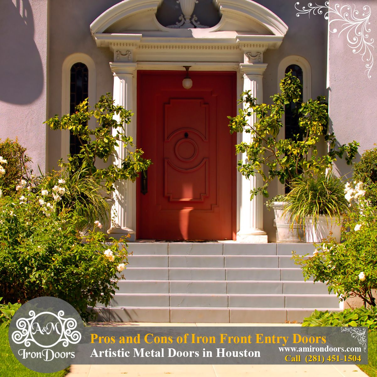 Pros and Cons of Iron Front Entry Doors for Your Home - Artistic ...
