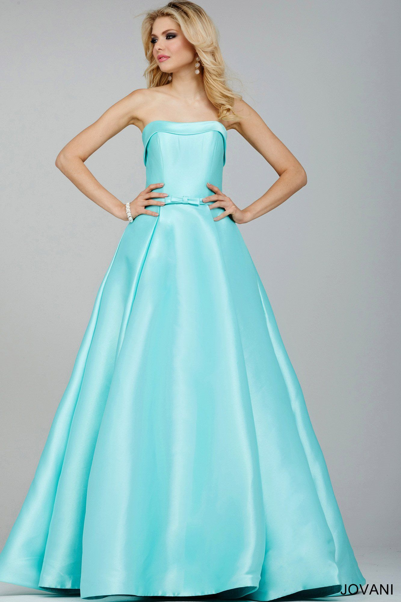 This beautiful tiffany blue ball gown by jovani looks like it came