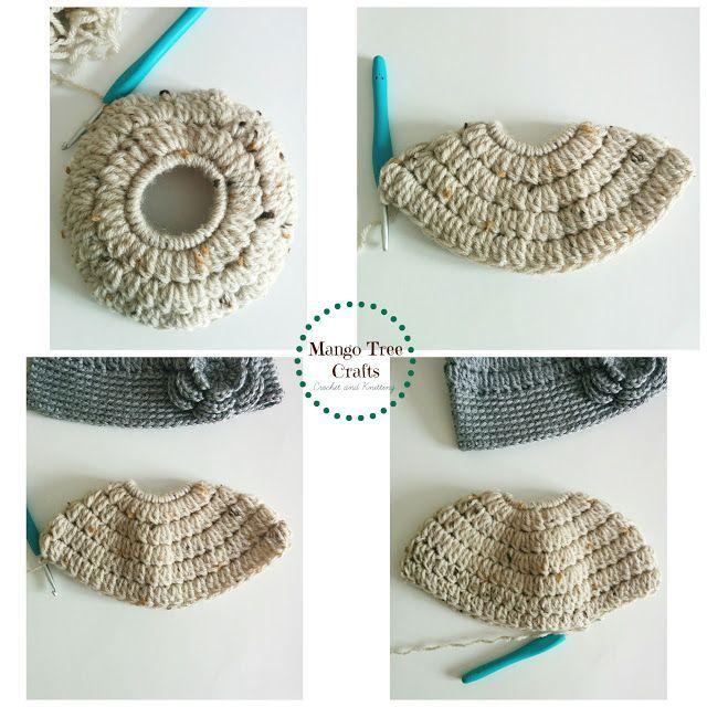 Messy Bun Hat Free Crochet Pattern Size Preteen | Flores