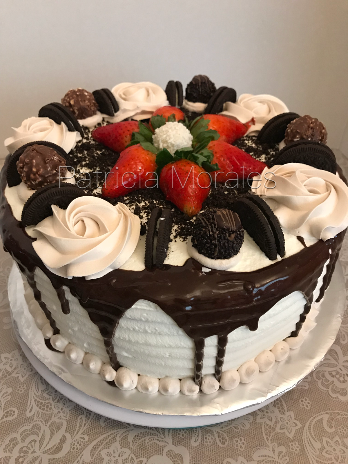 Tres Leches Cake Filled With Flan Napolitano Mocha Whipped Icing