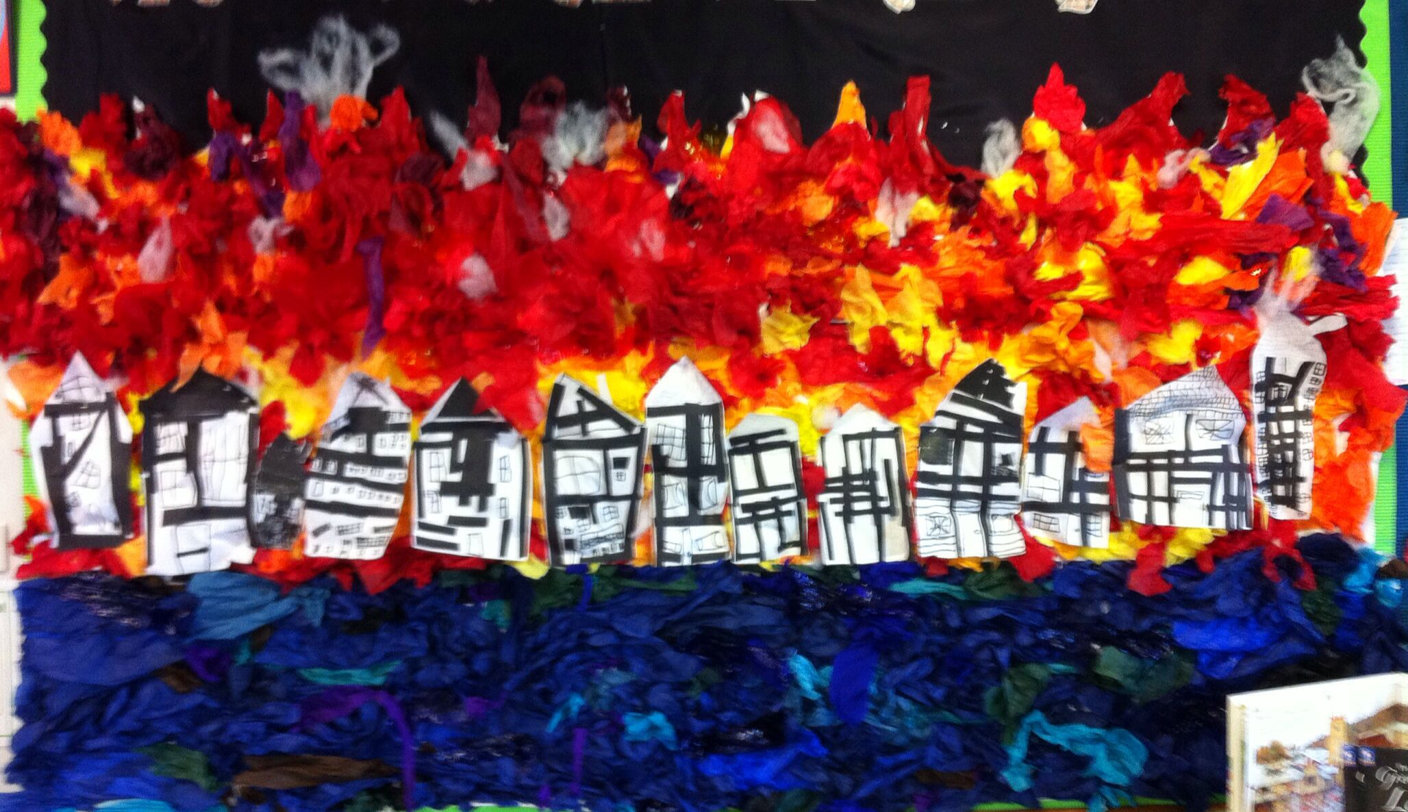 My Classroom Big Great Fire Of London Display Made Using
