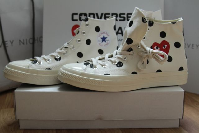 16afe91396da CDG COMME DES GARCONS X CONVERSE POLKA DOT TRAINERS UK11 BNIB 100%  AUTHENTIC  fashion