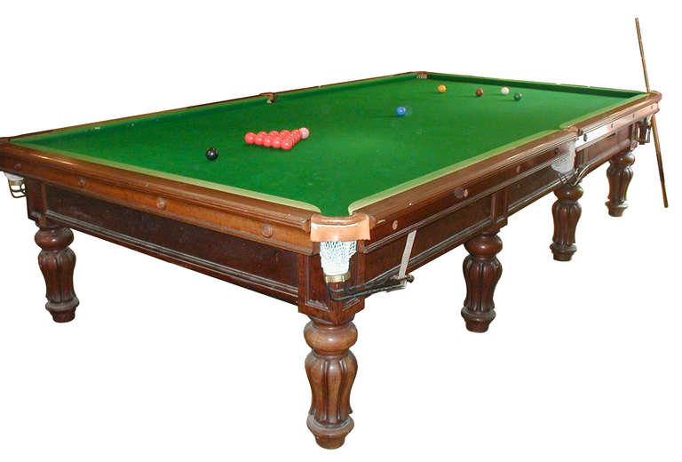 Full Size Antique Billiard / Snooker Table / Pool Table by