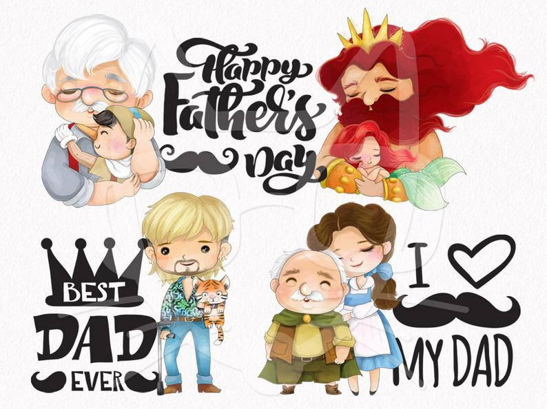 Fathers Day Clipart Set 1 Dad Clipart Instant Download Png Etsy In 2021 Clip Art Disney Clipart Good Good Father