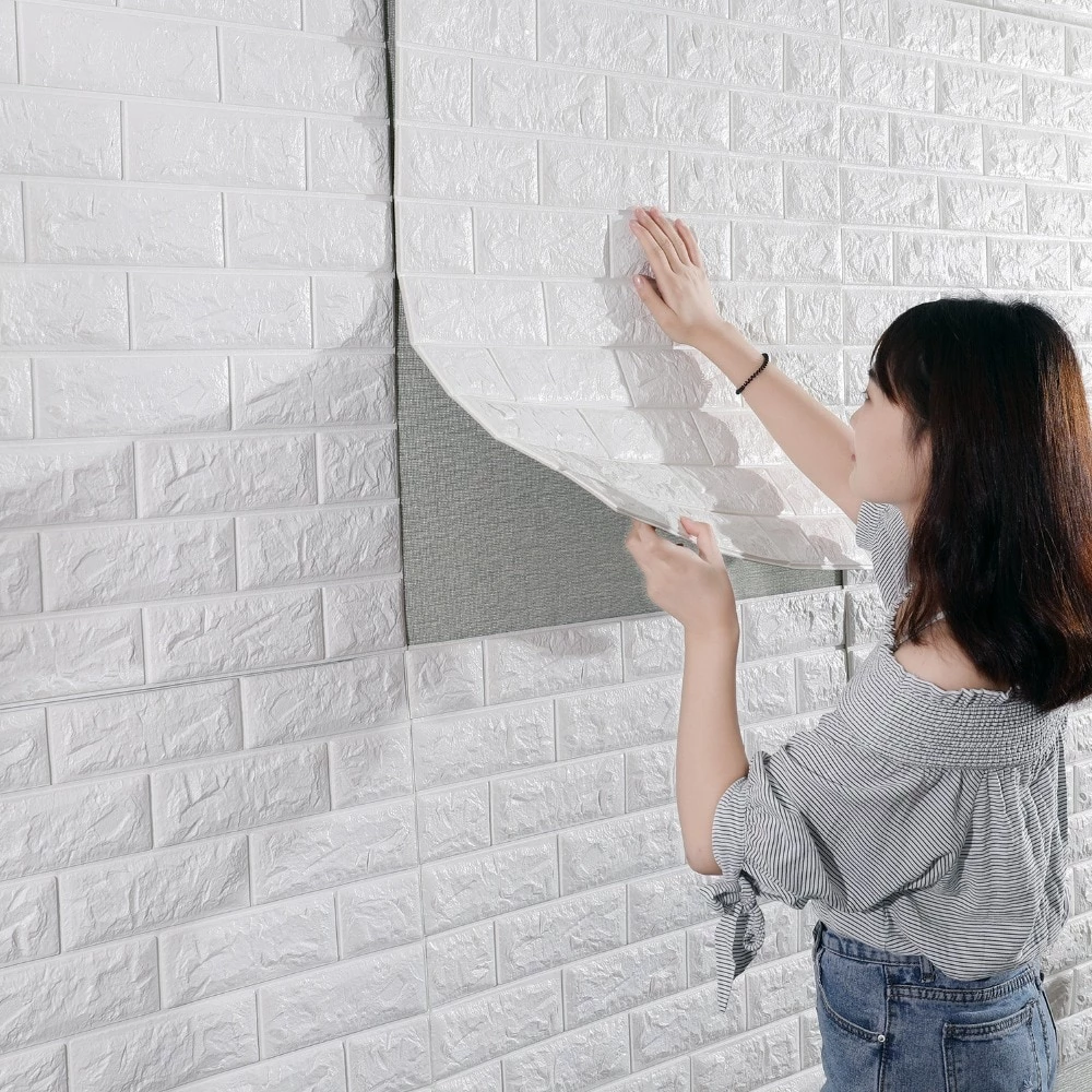 Best 3D Brick Wall Stickers Living Waterproof Foam Room Bedroom 640 x 480