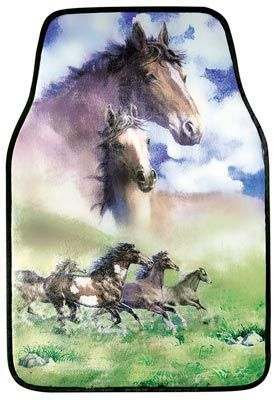 Horse Car Floor Mats 14 99 Rubber Backing Assures They Ll Stay In