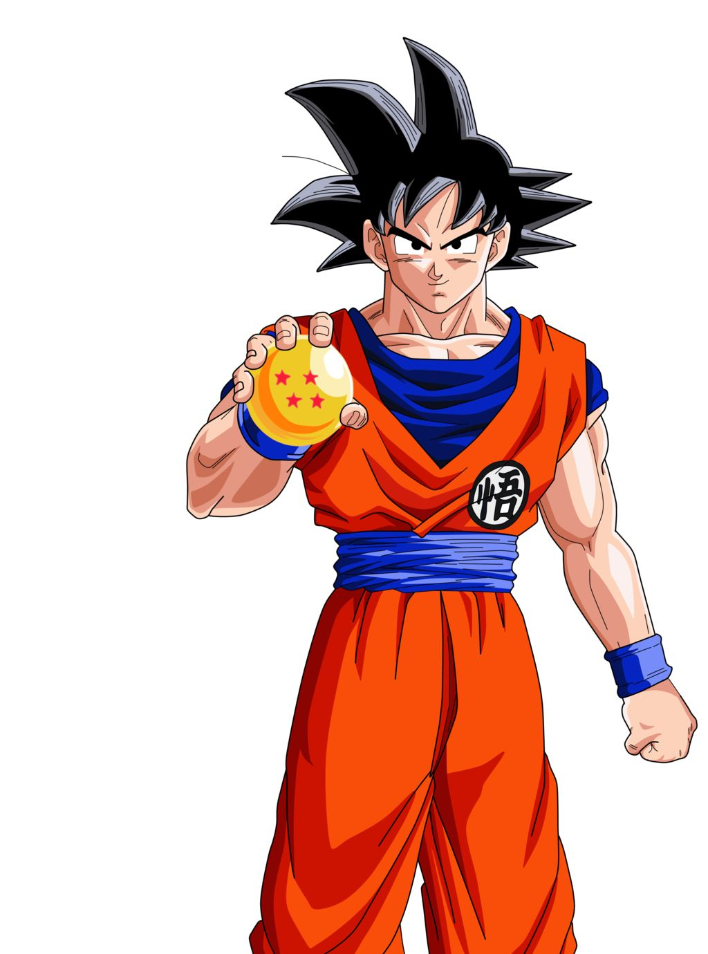 b7c1efba Goku holding the 4 Star Dragonball | Dragonball | Dragon ball ...