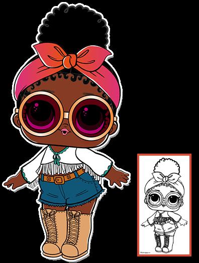 Foxy Series 3 L O L Surprise Doll Coloring Page Lol Dolls Dolls Lol