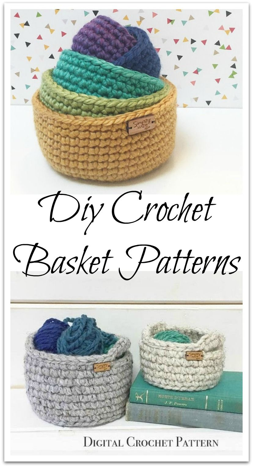 Crochet Pattern / Crochet Basket Pattern / Crochet Storage Basket ...