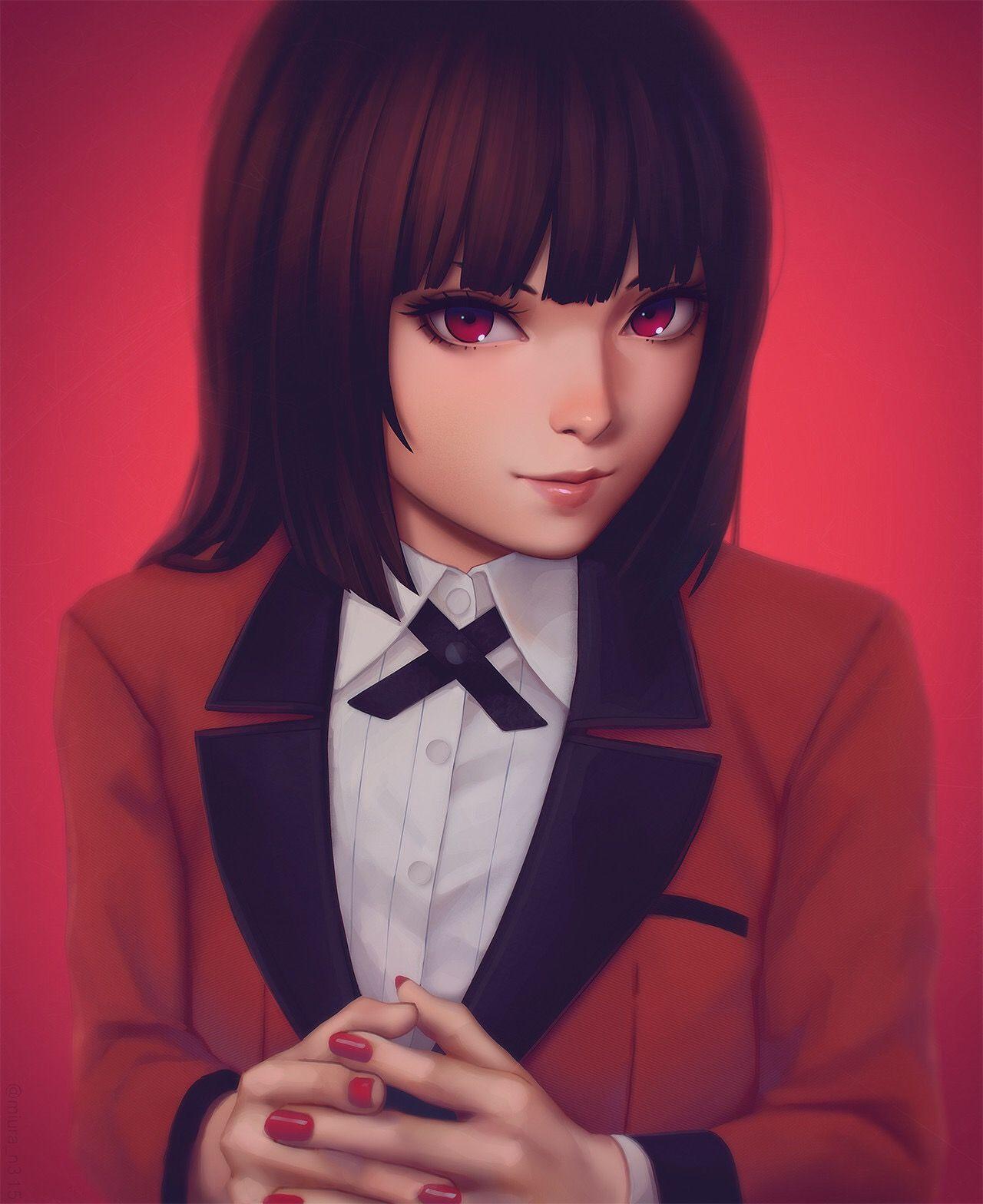 Jabami yumeko Kakegurui Anime sanatı, Anime kızları ve