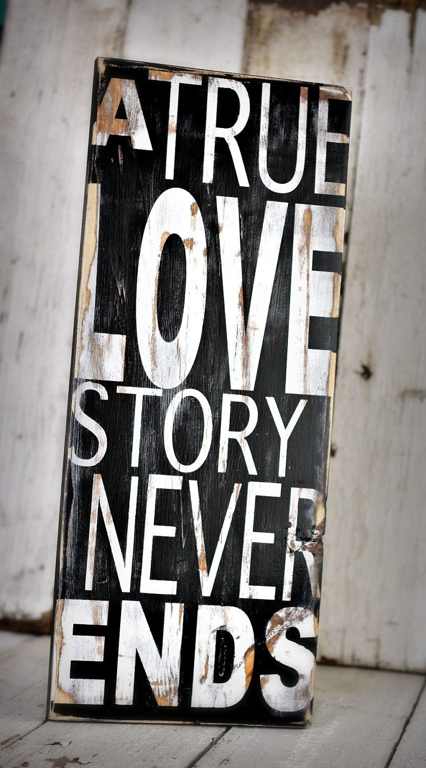 TRUE LOVE  Hand painted and distressed sign  9 by MannMadeDesigns4, $45.00