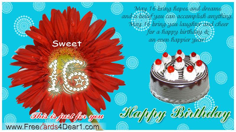 Sweet 16 Birthday Greetings