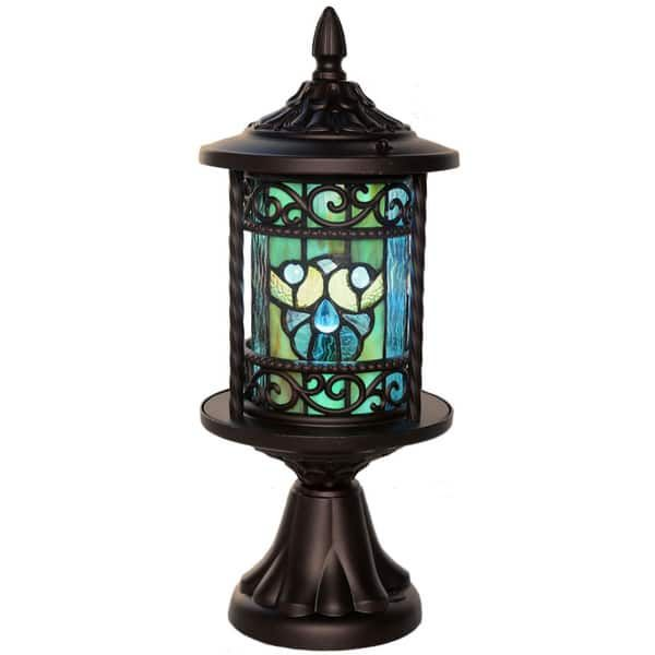 River Of Goods Multicolor Art Gl Metal Tiffany Style Outdoor Lantern