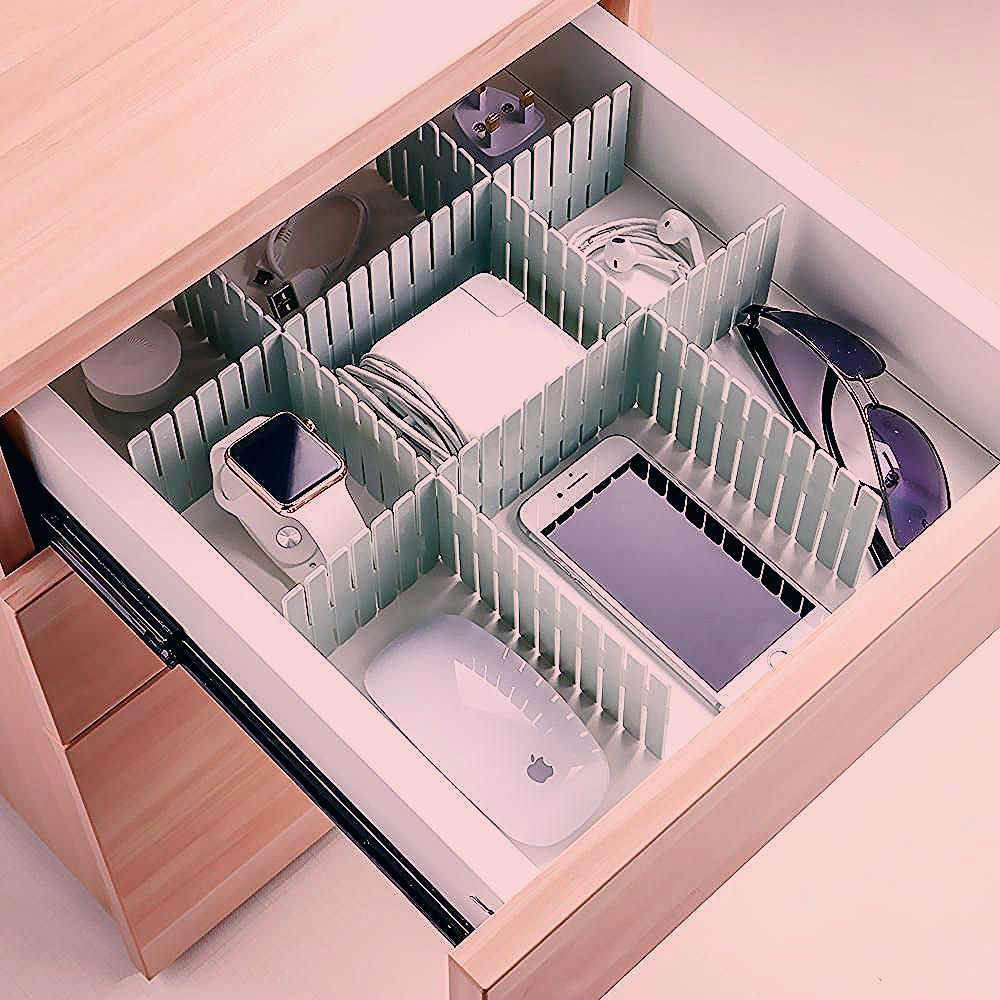 Free Combination Adjustable Drawer Organizer (Set of 4) - It Organizes Your Life!