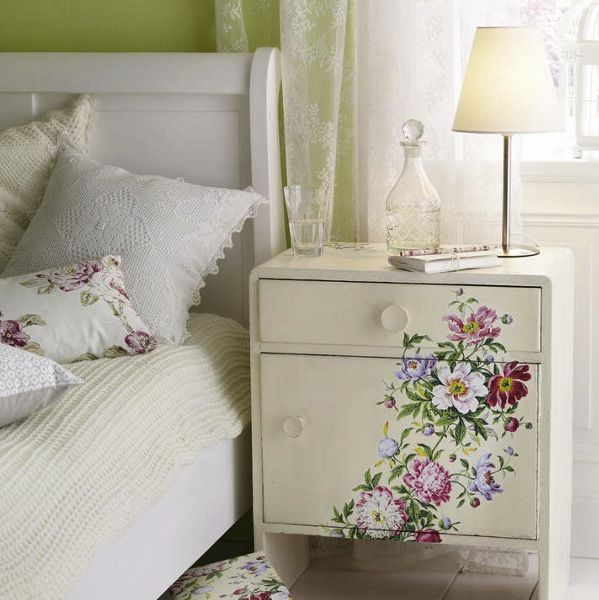 Would Like To Do This To A Bookcase.diy  Dresser Makeover Idea Before After Mod Podge Decoupage Wall Paper Easy  Craft Project Chest Drawers Side Table Bed  ...