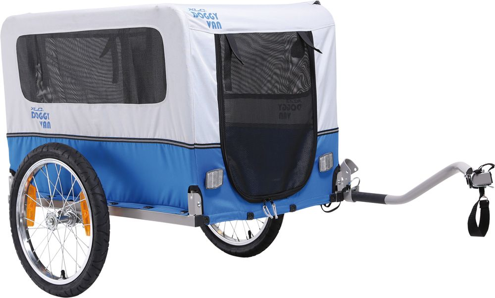 Xlc Dog Cart Doggy Silver Blue Powered By Croozer Dog Trailer