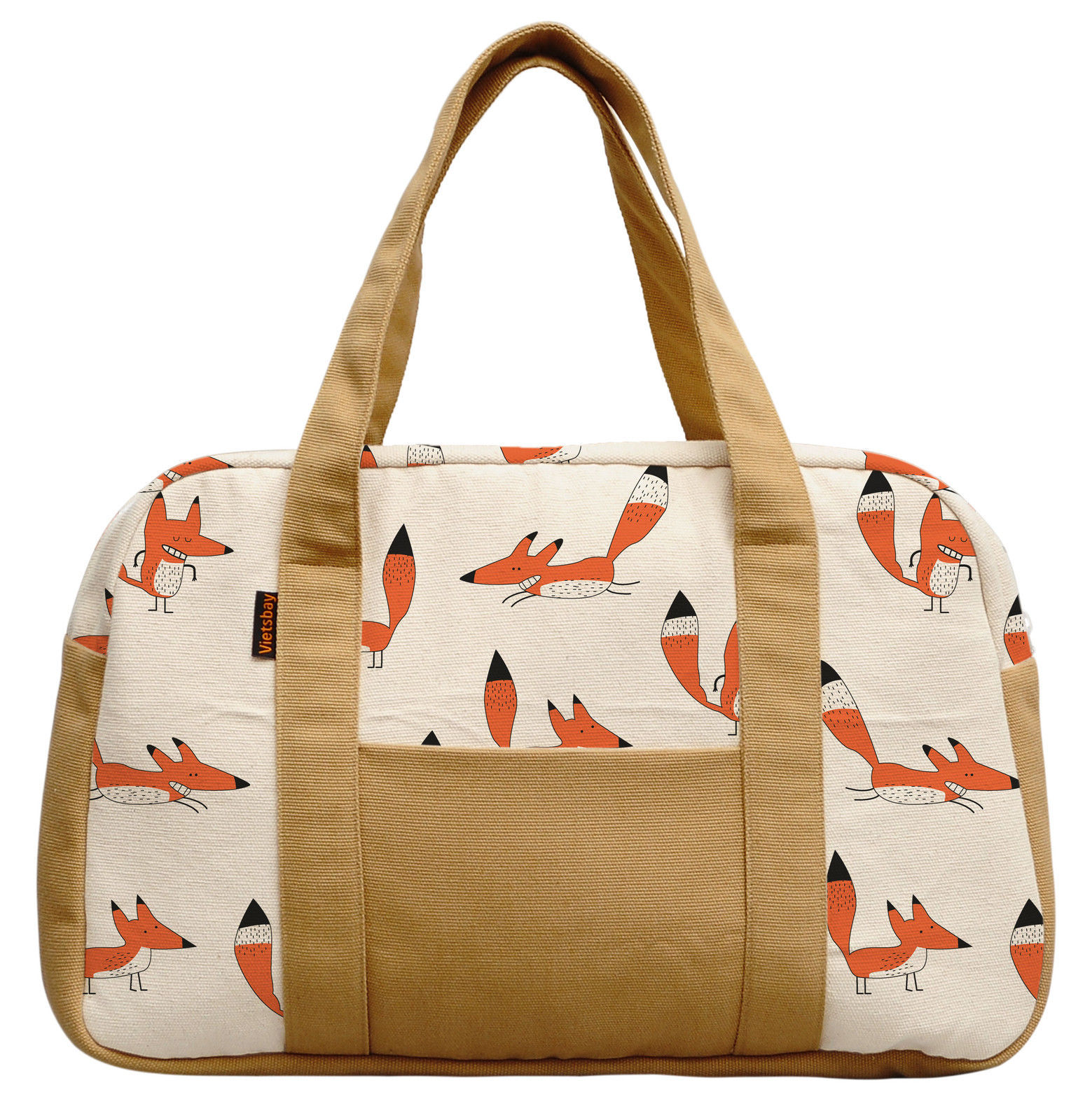 28.22$  Watch here - http://vibpz.justgood.pw/vig/item.php?t=0h6hkf8160 - Women's Funny Fox Pattern Printed Canvas Duffel Travel Bags WAS_19 28.22$