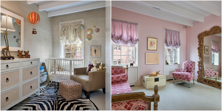 neutral color nursery and girls bedroom