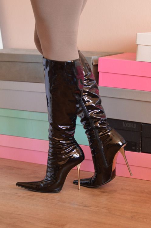 658349d0d8c5 Used Gianmarco Lorenzi boots with metal high heels for sale ...