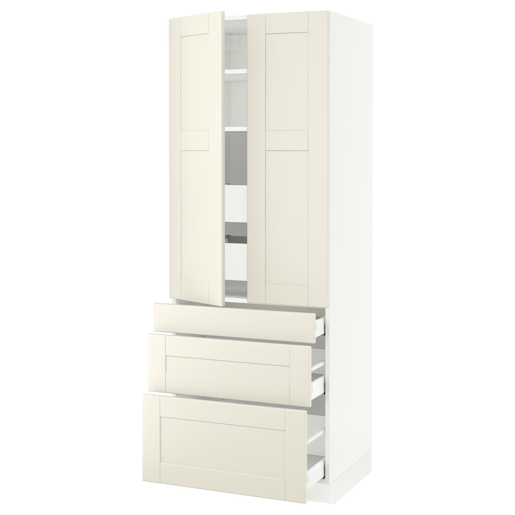 Ikea sektion white high cabinet w doors u drawers frame colour