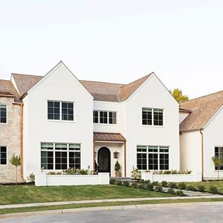 Romabio Paints Romabiopaints Instagram Photos And Videos We Are Thrilled That Studiomcgee Chose In 2020 House Exterior White Exterior Houses Farmhouse Exterior