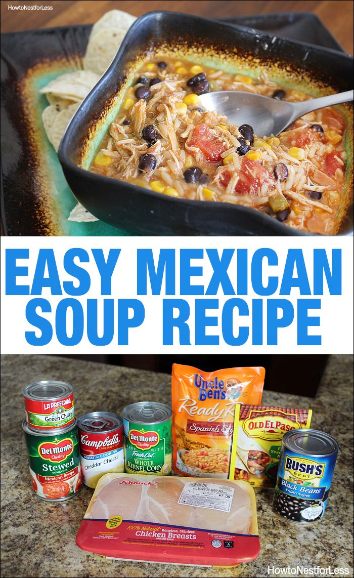 Mexican Soup Recipe with Chicken - Easy to Make!