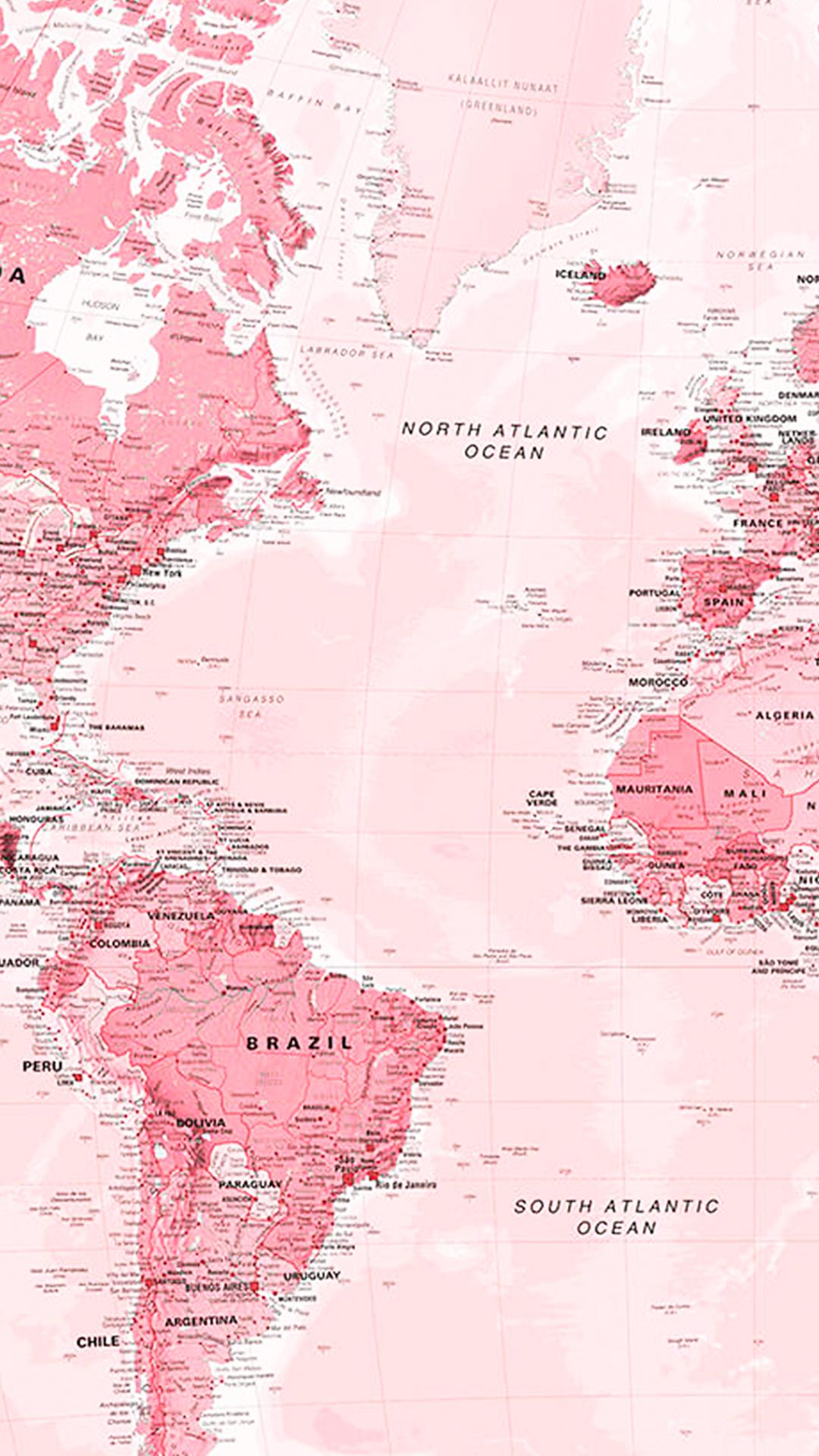 Wallpaper Mapa Mundi Rosa By Gocase In 2020 Aesthetic Iphone Wallpaper Pink Wallpaper Iphone World Map Wallpaper