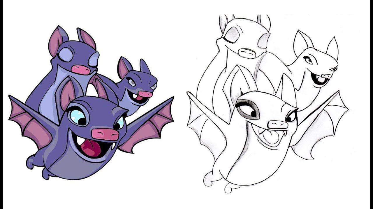 desenhando morcegos do clash royale drawing baths from clash