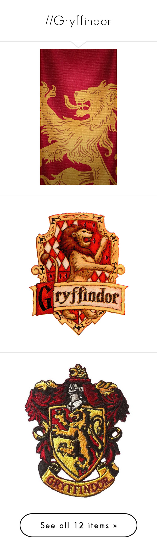 Gryffindor By Bainidhe Liked On Polyvore Featuring Harry Potter
