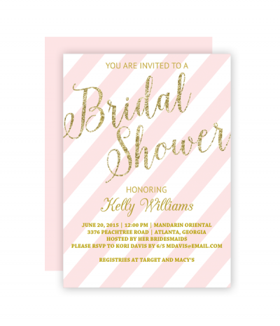 Invitation Templates Free Interesting Free Printable Glitter Bridal Shower Invitation Templates  Bridal .