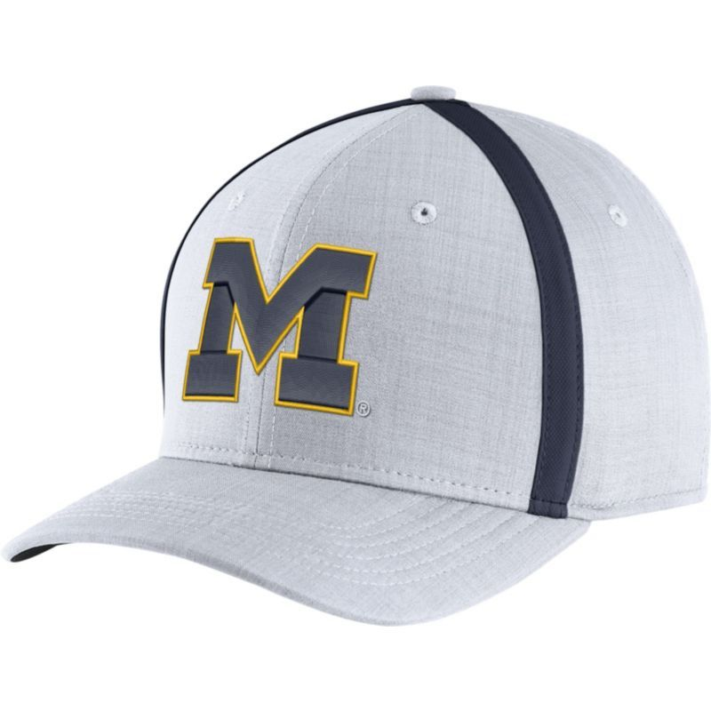 8018b7eb686 Jordan Men's Michigan Wolverines White AeroBill Football Sideline Coaches  Classic99 Hat, Blue