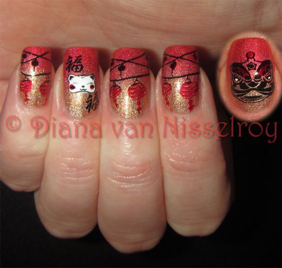 60 Best Nail Art Ideas For Chinese New Year Pinterest Nail