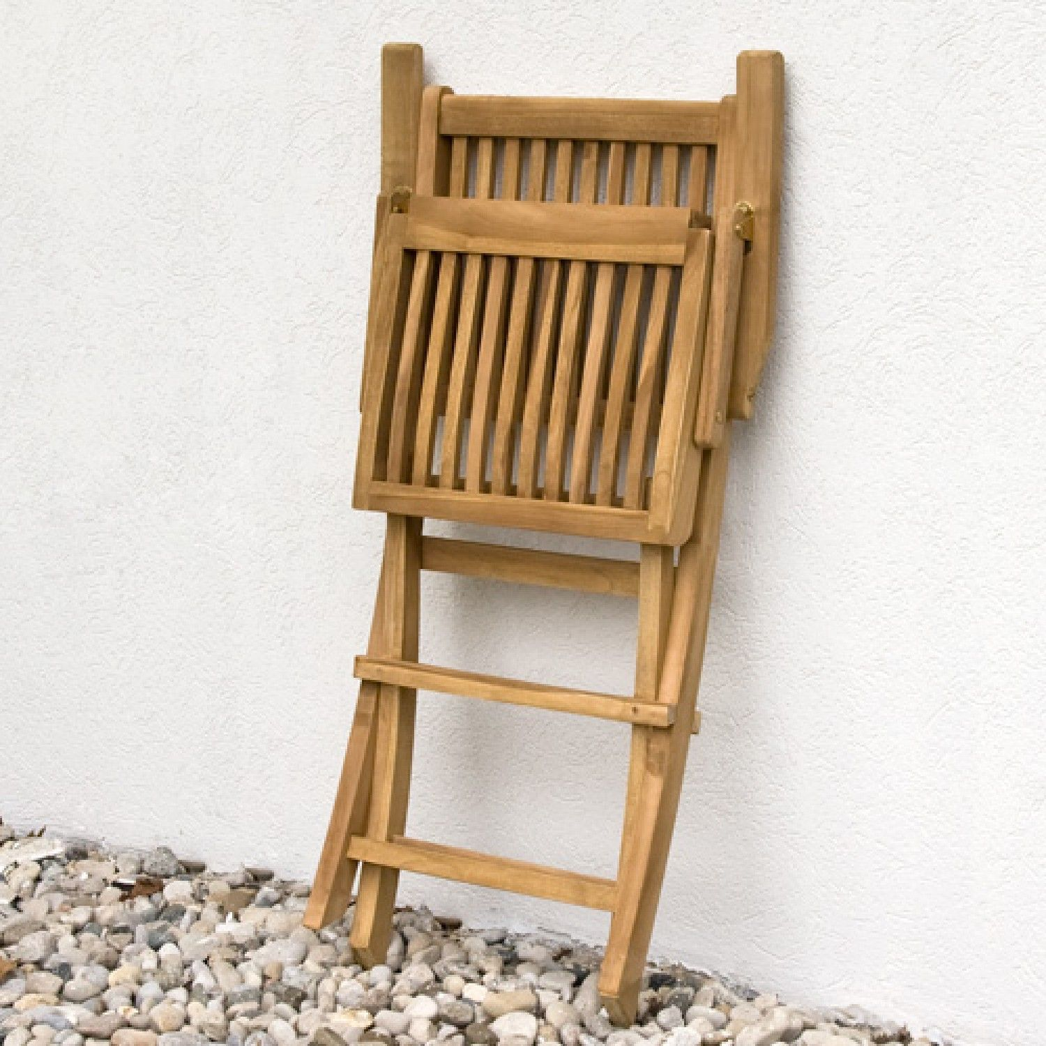 Holley Teak Outdoor Folding Arm Chair