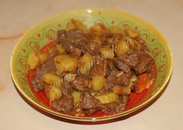 Жаркое из говядины с картофелем | Рецепт | Говядина, Идеи ...