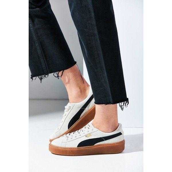 Puma Basket Suede Platform Sneaker ($100) ❤ liked on ...