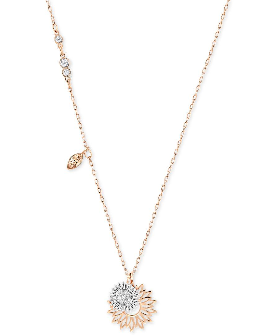 1c1db60b3 Swarovski Two-Tone Crystal Sunflower Pendant Necklace | A little ...