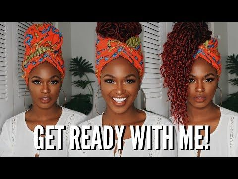 CHIT CHAT GRWM - Makeup tutorial & 3 Headwrap Croc